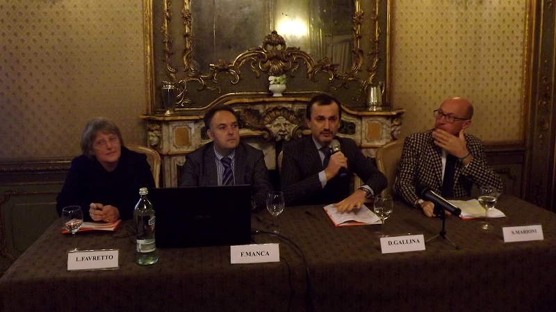Da sinistra: Lionella Favretto, Fabrizio Manca, Dario Gallina, Silvio Marioni