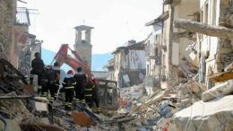 I danni del terremoto in Centro Italia (foto Protezione Civile)