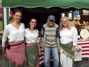 Giuseppe Ostorero allo stand dell'azienda vitivinicola Prever