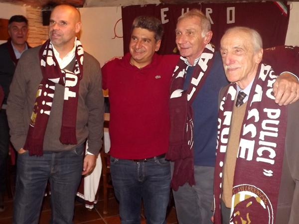 Da sinistra: Alvise Zago, Marco Beltrami, Roberto Salvadori, Italo Mosso