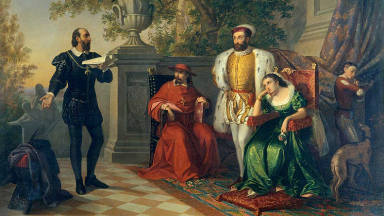 Ariosto legge l'Orlando Furioso