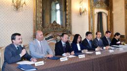 La conferenza stampa di presentazione dell'accordo