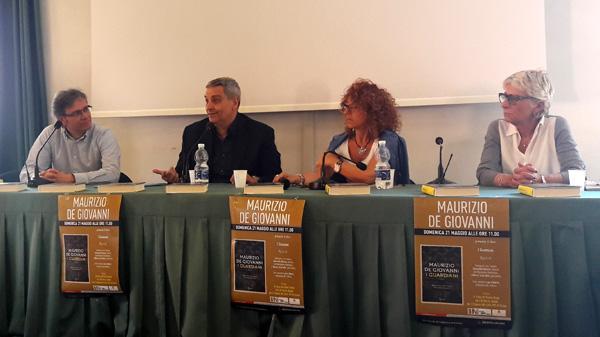 Da sinistra, Marco Scarzello, Maurizio De Giovanni, Antonella Menzio, Laura Ghersi