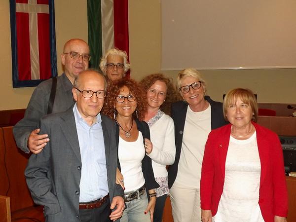 Da sinistra, Edoardo Di Mauro, Angelo Petrosino, Vito Navolio, Antonella Menzio, Sara Gianotti, Laura Ghersi, Franca Zoavo.