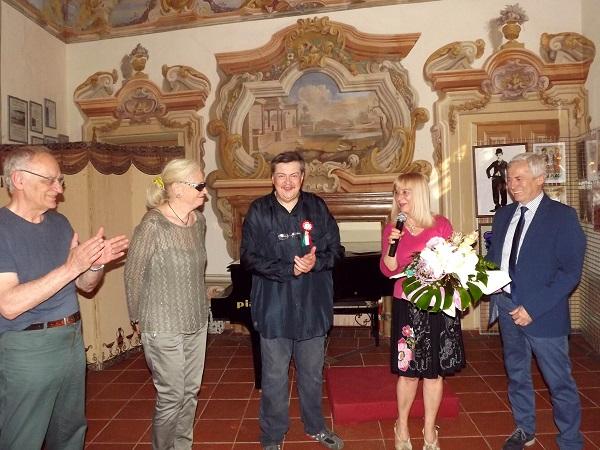 Mostra sul cinema. Da sinistra, Andrea Ferrero, Piera Capello, Orso Giacone, Bruna Bertolo, Eugenio Aghemo