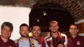 Simone Auriletto, il secondo da destra, al raduno del Toro Club di Villarbasse