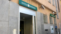 La filiale Intesa San Paolo di Villarbasse