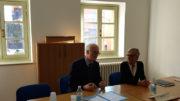 Filippo Bulfamante e Laura Ghersi alla conferenza stampa
