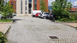 Il parcheggio di via Alpignano dove si è consumata la tragedia