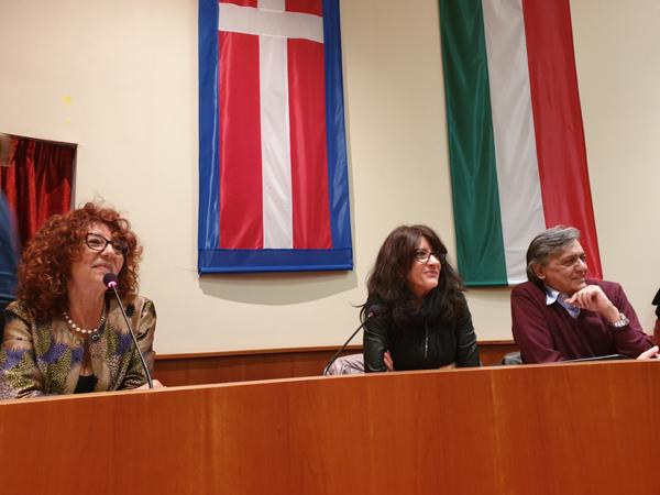 Da sinistra Antonella Menzio, Luisella Ceretta e Carlo F. De Filippis