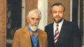 Mario Soldati accanto a Pier Franco Quaglieni nel 1987