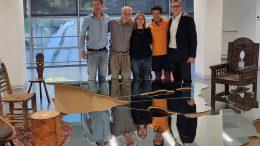 I soci fondatori di Dream con l'opera di Michelangelo Pistoletto